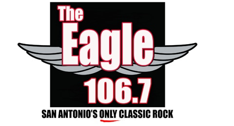 106.7 The Eagle - San Antonio's Only Classic Rock Logo